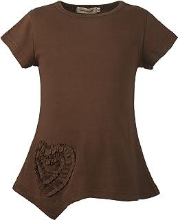 1fd3ea153e480 Ipuang Girls Heart Shaped Casual Cotton Cap Sleeve Tee T Shirt Top