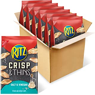 RITZ Crisp and Thins Salt and Vinegar Chips, 6 - 7.1 oz Bags