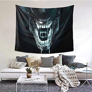 ERTER Corrivi Tapestry Xenomorph Alien Wall Tapestrys Novelty Tapestry Wall Hanging, Art Decor Print Fabric for Bedroom Living Room 60x51in