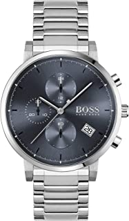 ساعة بلاك من الستانلس ستيل وبمينا ازرق للرجال من هوغو بوس - 1513779