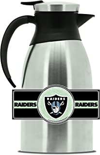 NFL Oakland Raiders Double Wall Stainless Steel Coffee Pot, Large (2 Liter)