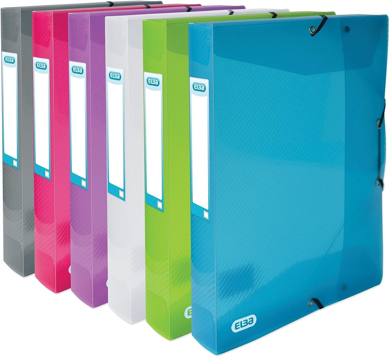 ELBA 400034256 Sammelbox Sammelbox Sammelbox hawai 6er Pack A4 Dokumenten-Box aus Kunststoff grün, grau, lila, rot, blau, farblos B071DGW2CM | Haben Wir Lob Von Kunden Gewonnen  8fbc74