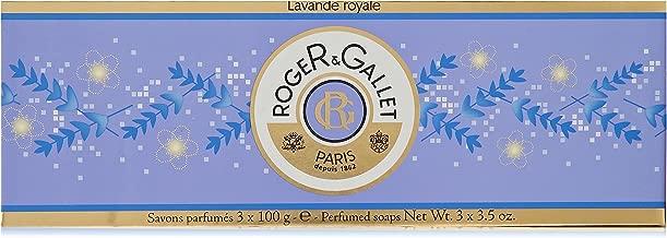 Roger & Gallet Lavender (Lavande Royale) Perfumed Soap Boxed Set - 3 x 3.5 oz