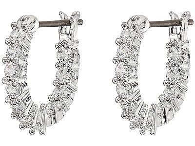 Swarovski Vittore Mini Hoop Pierced Earrings (Silver) Earring
