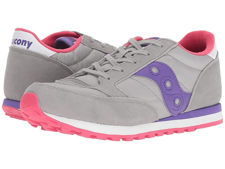Saucony Kids Jazz Original (Big Kid) (Grey/Purple) Girl