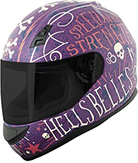 Speed and Strength SS700 Hell's Belles Adult Street Motorcycle Helmet - Purple/Small