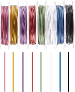 PH PandaHall 100 Yards 10 Colors Tiger Tail Wire 0.45mm Jewelry Beading Wire Craft Metal Wire with Spool for Jewelry Makin...