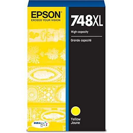 EPSON T748 DURABrite Pro Ink High Capacity Yellow Cartridge (T748XL420) for select Epson WorkForce Printers