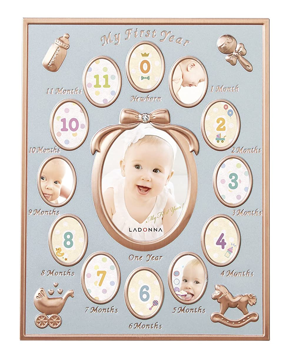白い壁紙マネージャーラドンナ ベビーフレーム MB84 12ヶ月ベビーフレーム ミニ ピンクゴールド