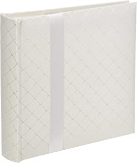 Pioneer DA-200FDR Photo Albums 200 Pocket Ivory Diamond Fabric Photo Album with Ribbon Trim for 4 by 6-Inch Prints