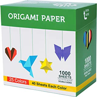 double sided red origami paper