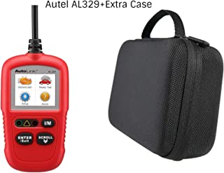 Autel AL329 Code Reader (Advanced Version of The AL319 OBD2 Scanner) + Free Case, Engine Fault CAN Scan Tool with Patented One-Click I/M AutoVin