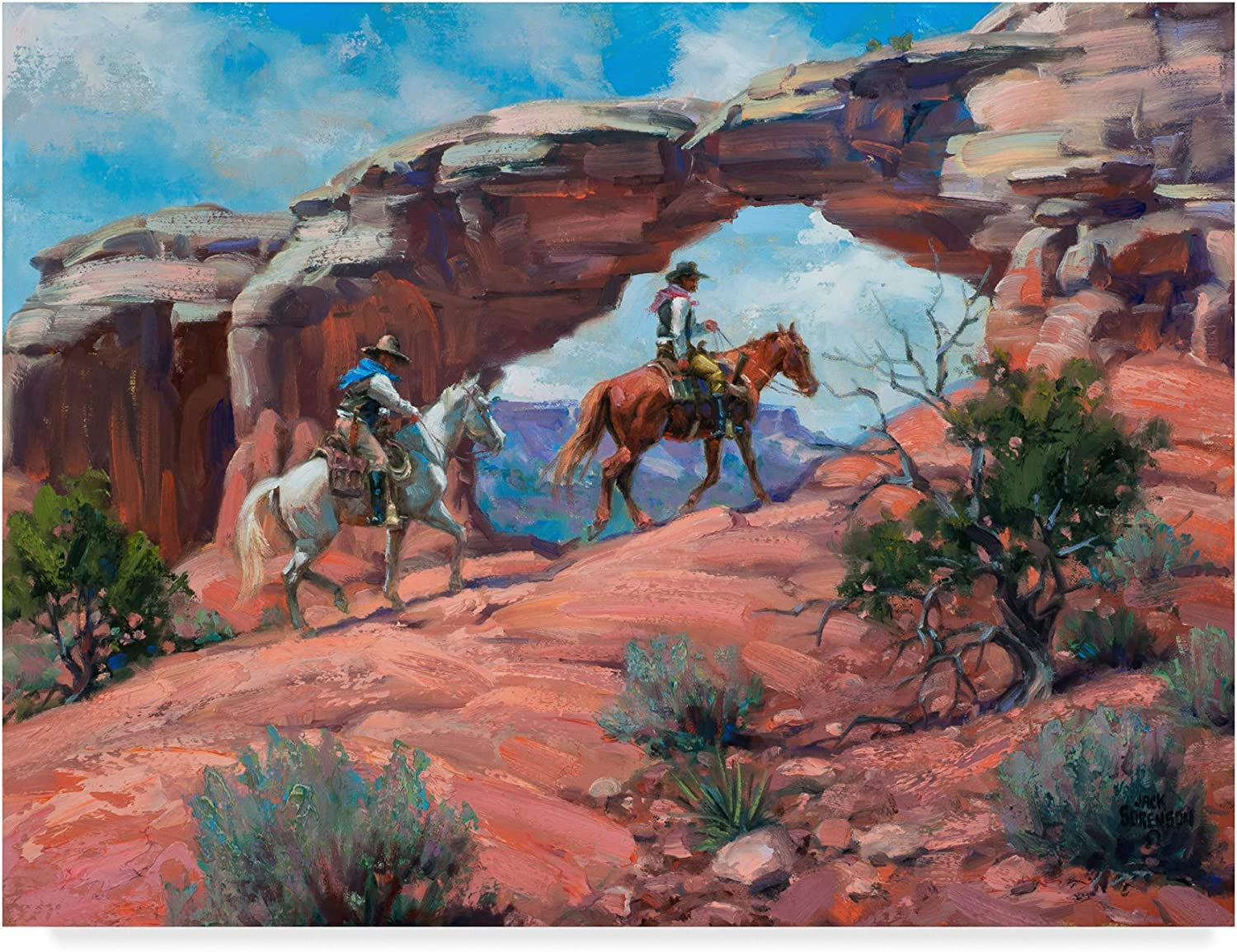 Trademark Fine Art Between Rocks and Hard Places Wall Decor by Jack Sorenson, 14x19