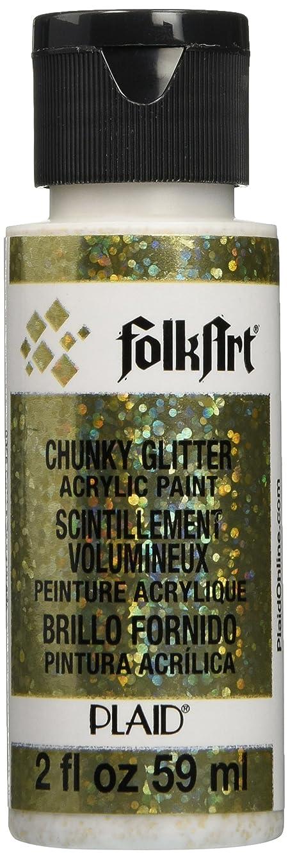FolkArt Chunky Glitter Acrylic Paint (2-Ounce), 2858 Gold
