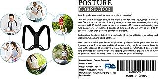 Posture Corrector for Men Women,Back Posture Brace for Men Women,Adjustable bodywellness Posture Corrector Brace Posture Belt Back Strap Bad Posture Upper Back Brace Posture Clavicle Support Brace