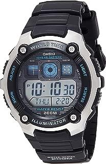 Casio Mens Quartz Watch, Digital Display and Resin Strap