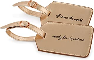 Miamica Women's 2 Piece Set Luggage Tag, Rose Gold