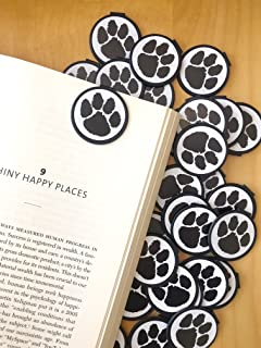 BLACK Animal Paw Print School Mascot BOOKMARKS (Set of 36)