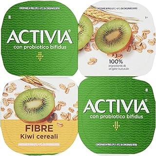 Danone Activia Yogurt Frutta e Fibre Kiwi Cereali, 4 x 125g