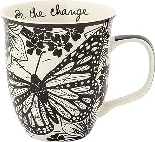 Karma Gifts Boho Black And White Mug, Butterfly
