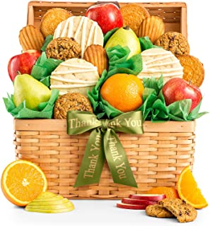 GiftTree Fresh Fruit and Gourmet Cookies Thank You Gift Basket | Premium Fresh Pears, Apples and Juicy Oranges with Fresh Cookies | Perfect Way To Show Your Appreciation