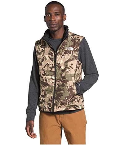 The North Face Junction Insulated Vest (Burnt Olive Green Digi Topo Print) Men