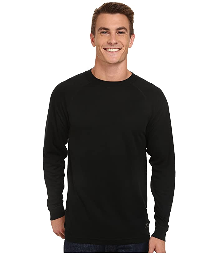 Terramar Authentic Thermal Long Sleeve Crew (Black) Men