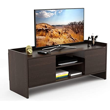 """BLUEWUD Charley Engineered Wood TV Entertainment Unit Cabinet with Storage for Living Room -Ideal for Upto 50"""" Tv (Wenge Finish)"""