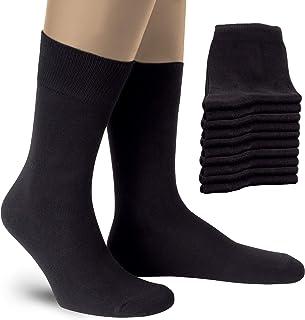 Calcetines Hombres y Mujer (5-10 Pares) - PREMIUM Calcetines ejecutivo de algodón para trabajo y ocio - Algodón Peinado - Hecho en Europe