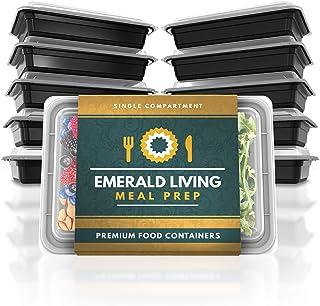 comprar comparacion Emerald Living Juego de recipientes para Preparar Comida, 1 Compartimento, Negro, 1 Compartment
