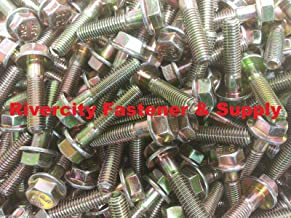 (25) M8-1.25 x 35 / M8x35 Metric Hex Flange Bolts Grade 10.9 DIN 6921 ZY - Durable and Sturdy, Good Holding Power in Different Materials