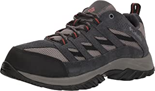 Columbia Men's Crestwood Breathable, High-Traction Grip, Quarry, Rusty, 17 Regular US