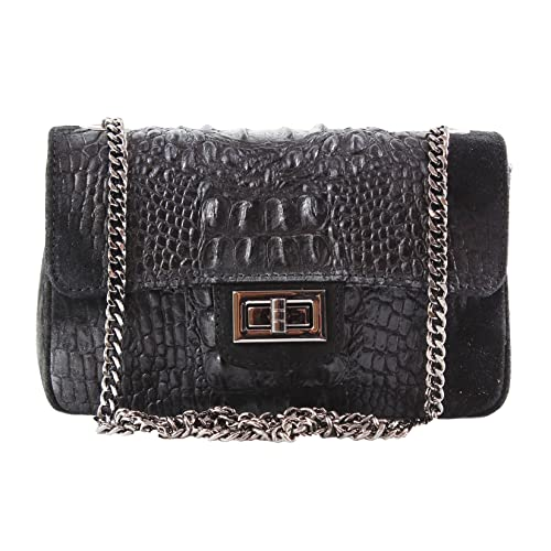 23b88c49e16 Chicca Borse Woman Shoulder Bag, Clutch in genuine leather made in Italy
