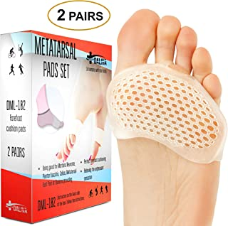 Ball of Foot Cushions - Metatarsal Pads Forefoot Pad - Metatarsal Cushion Mortons Neuroma - Metatarsal Foot Pads - Gel Foot Cushion - Mortons Neuroma Callus Metatarsal - Soft Gel Inserts