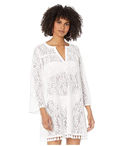 Lilly Pulitzer Kizzy Cover-Up (Resort White Swirling Leaf Lilly Lace) Women
