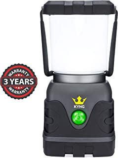 Camping Lantern 1000 Lumens- Bright & Dimmable- Warm & Cool White LED Light Modes- D-Cell Battery Powered for Outdoors, Emergency, Roadside Use