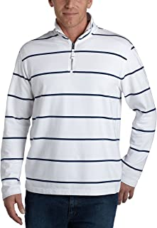 Nautica Men's 1/4 Zip Stripe French Terry Pullover