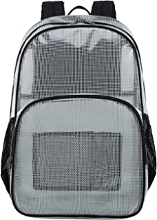 Stadium Approved Backpack, Heavy Duty School Bag for 15.6 Laptop, Clear