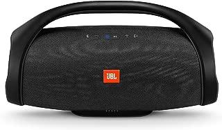 JBL Boombox Portable Bluetooth Waterproof Speaker (Black) (Renewed)