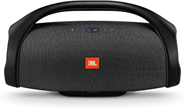JBL Boombox Portable Bluetooth Waterproof Speaker (Black) (Renewed)