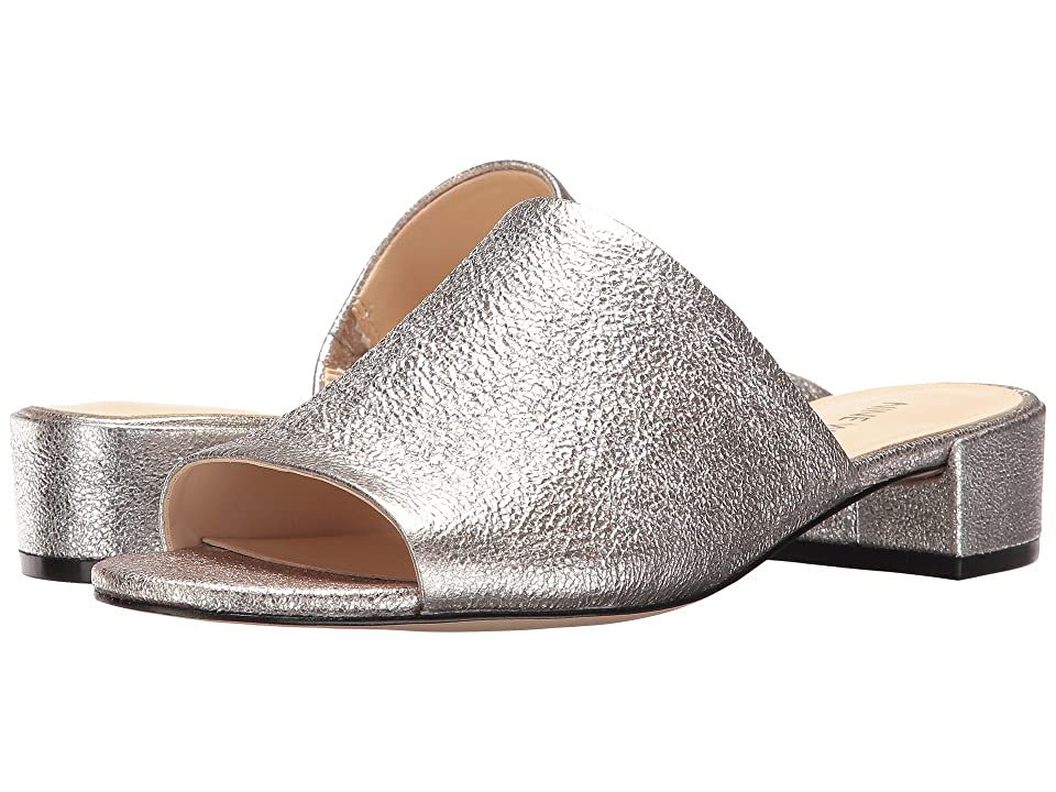 Nine West Raissa Slide Sandal (Pewter Metallic) Women