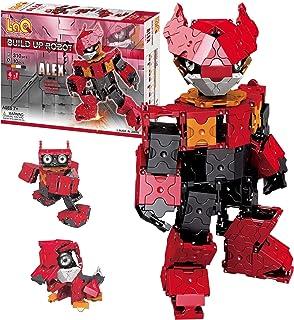 LaQ Buildup Robot Alex - 4 Models, 310 Pieces   Build Japanese Toy Robots   STEM Robot Toy   Educational Boys Toys Age 7, ...