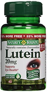 Nature's Bounty Lutein 20mg, 40 Softgels (Pack of 4)