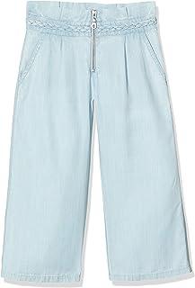 IKKS Junior Pantalon Fluide Bleu Evasé Pattes Elephant Niñas