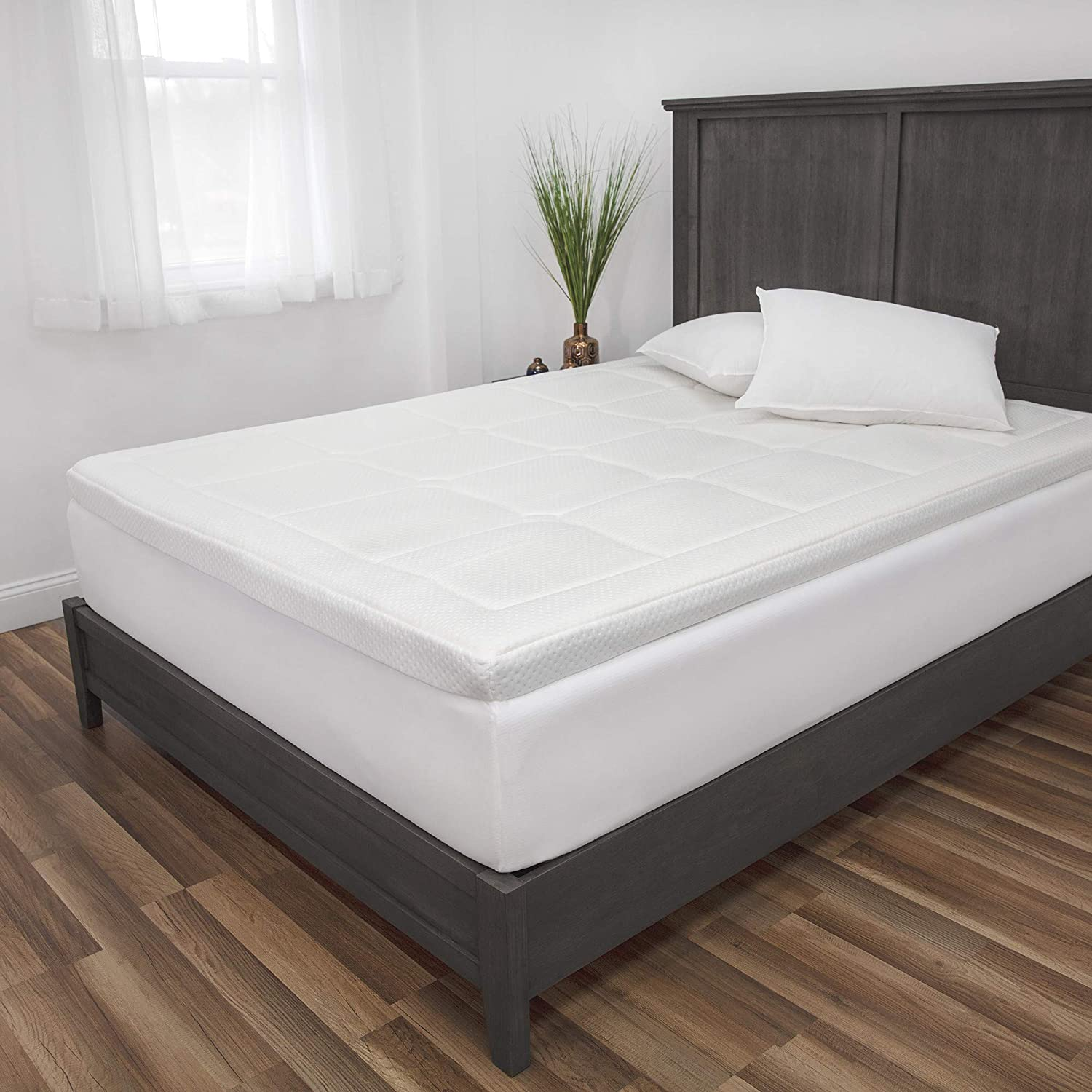 Japan Maker New SensorPEDIC 3 in Euro Majestic White Full Mattress Topper sold out