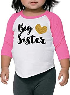 Baby Girl Outfit Big Sister Shirt Pregnancy Announcement Photo Prop (12-18 Months)