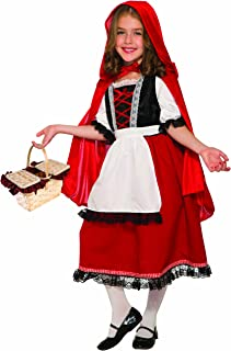Forum Novelties Party Supplies 81049 Deluxe Little Red Riding Hood Child's Costume, Medium, Multi-Color