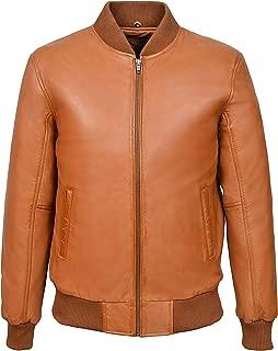 Men's 70'S Real Leather Bomber Jacket 100% Napa Street Inspired Biker Style 275-P