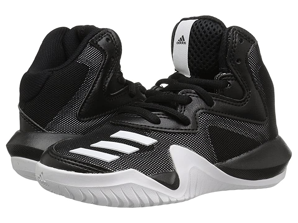adidas Kids Crazy Team Basketball (Little Kid/Big Kid) (Core Black/Core Black/Solid Grey) Boys Shoes