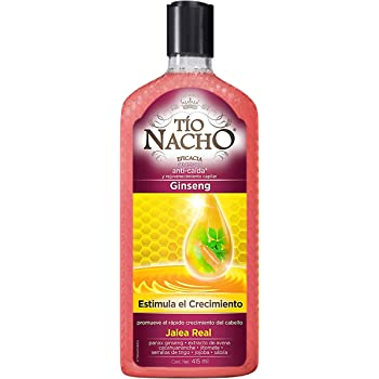 Tío Nacho Shampoo ANTI CAÍDA GINSENG, rejuvenecimiento capilar 415 ml
